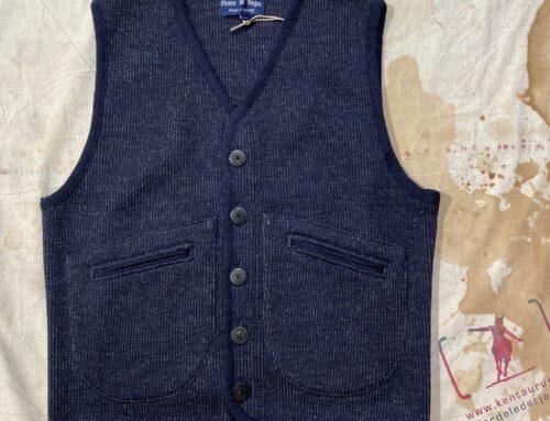 Fleurs De Bagne   emile wool vest blue