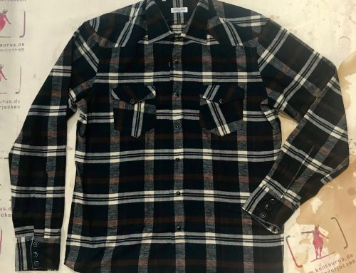 Salvatore Piccolo brown/black flannel shirt R-THM/F12