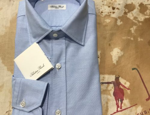 S.Piccolo plain blue oxford shirt OXS30
