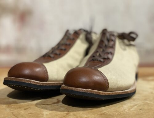 Clinch Boots roam trainer brown and ivory canvas