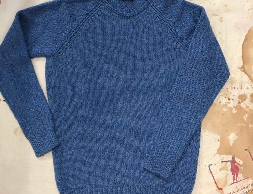 Seldom Kaschmirpulli blau