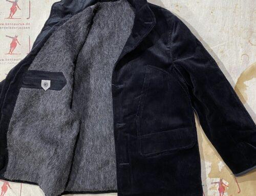 MotivMfg corduroy hunting jacket brisbane moss black alpaca lined