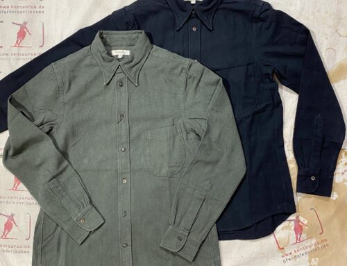 MotivMfg button down shirt Japanese oxford black and olive
