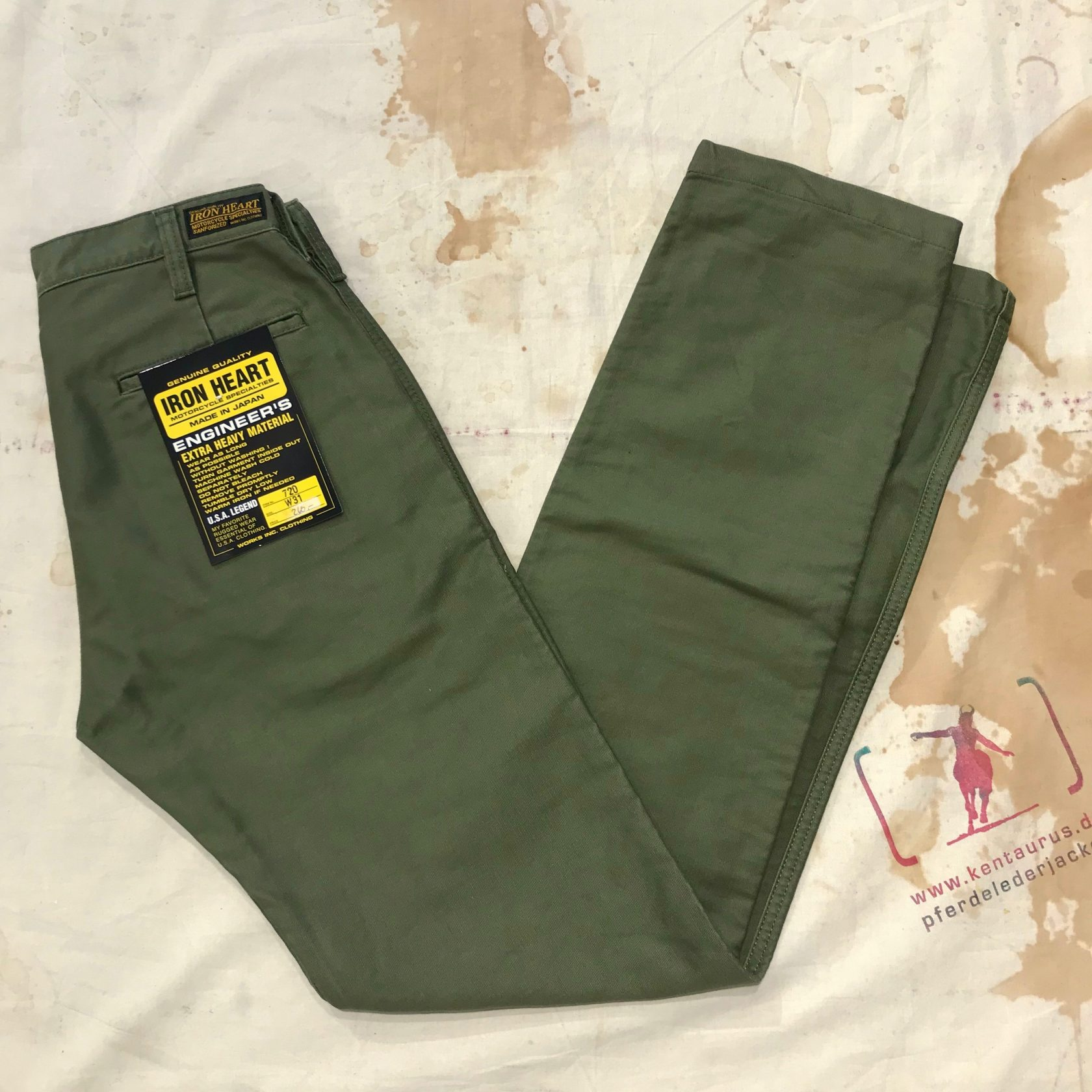 Iron Heart 720 olive whipcord pant