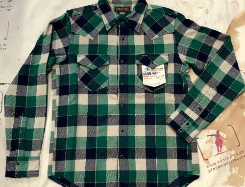 IHSH-203 green flannel western shirt