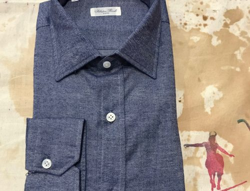 S. Piccolo blue flannel shirt R-VT/PB