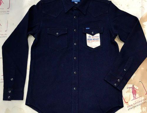 Iron heart IHSH-208 indigo kersey shirt