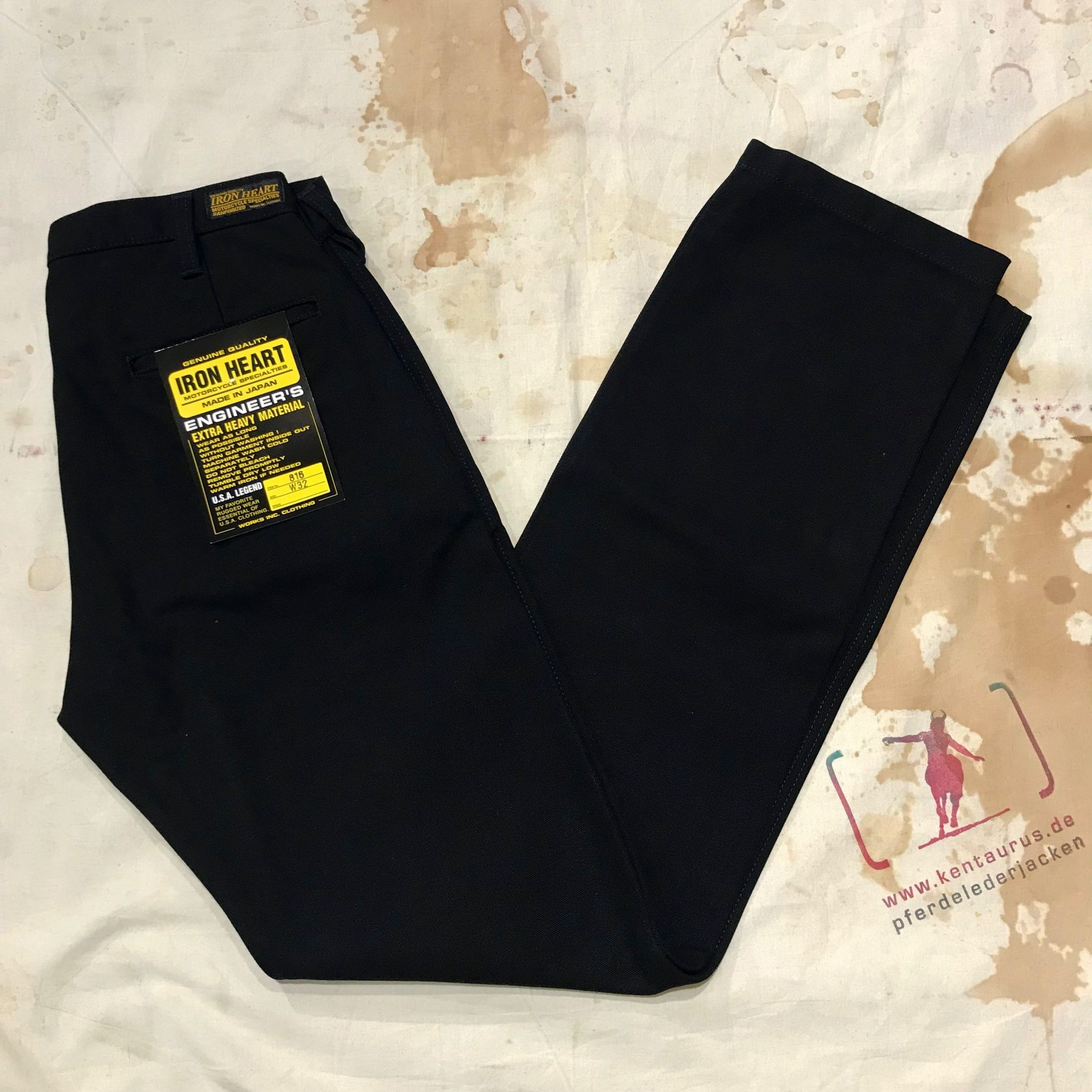 IH-816 BLK 17oz cotton work pants black