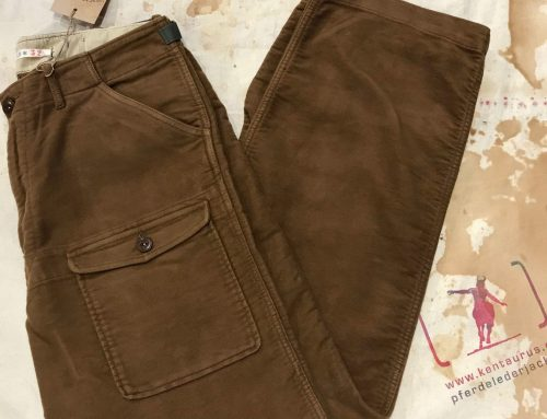 Scartilab brown moleskin pant