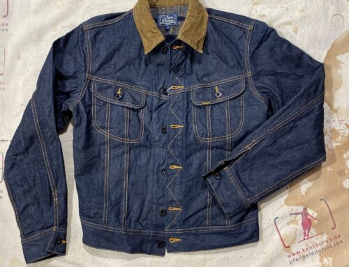 Studio D´Artisan blanket lined denim jacket D4187