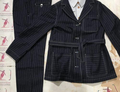 Suitcase Pinstripe Suit