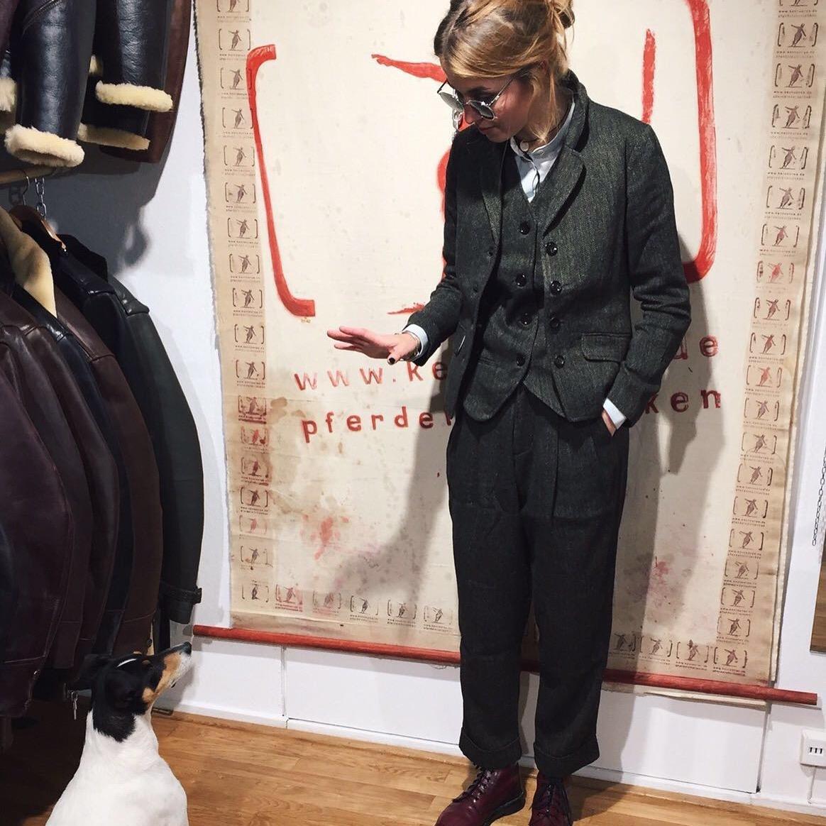 Hansen AW16 3 piece herringbone tweed suit