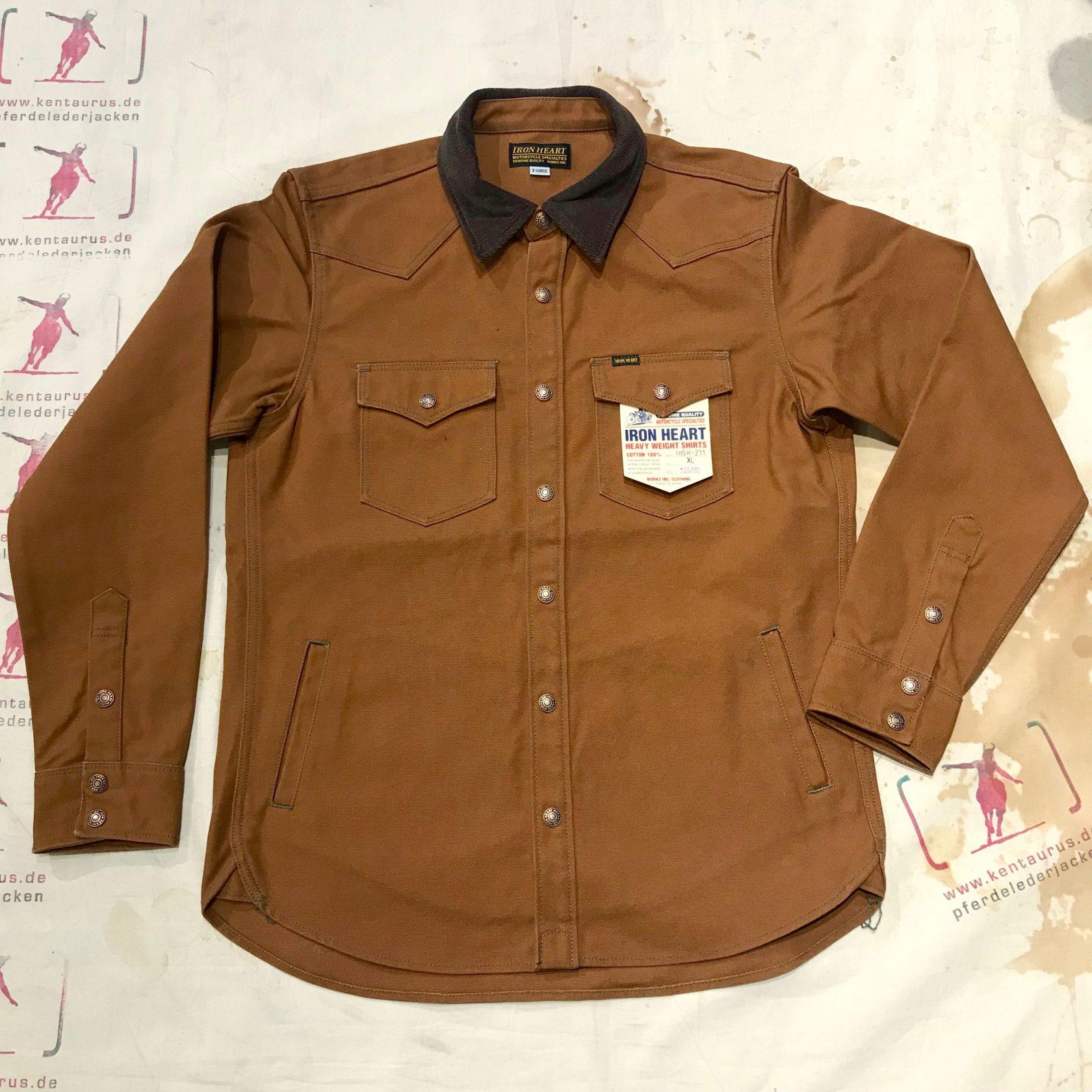 IHSH-211 brown CPO shirt