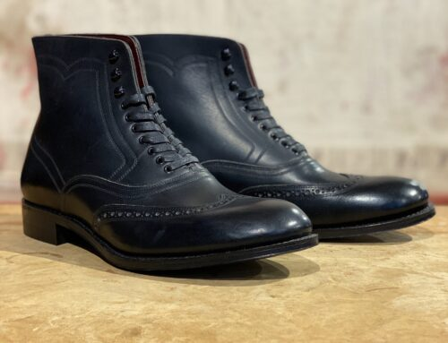 Adjustable Costume austerity brogue boots