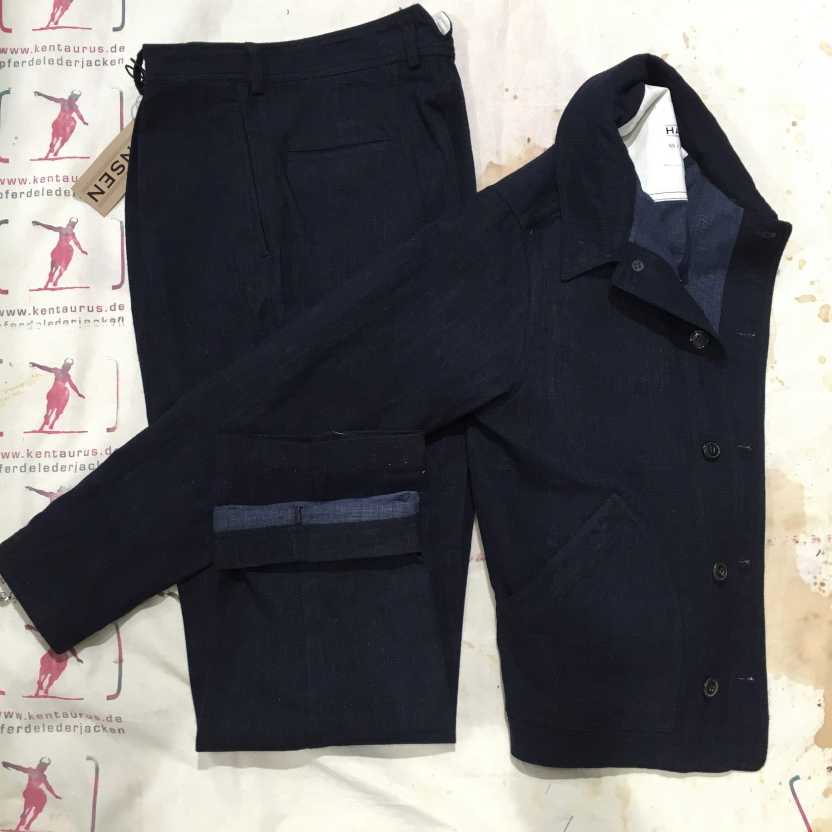 Hansen  work suit navy