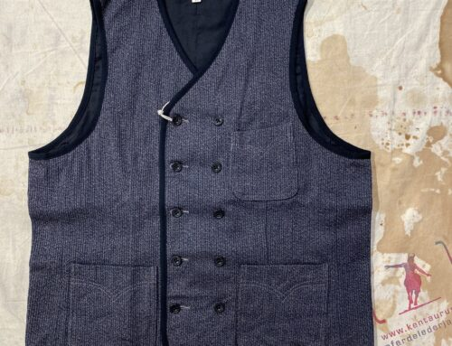 Adjustable Costume heavy cord double breasted vest charcoal