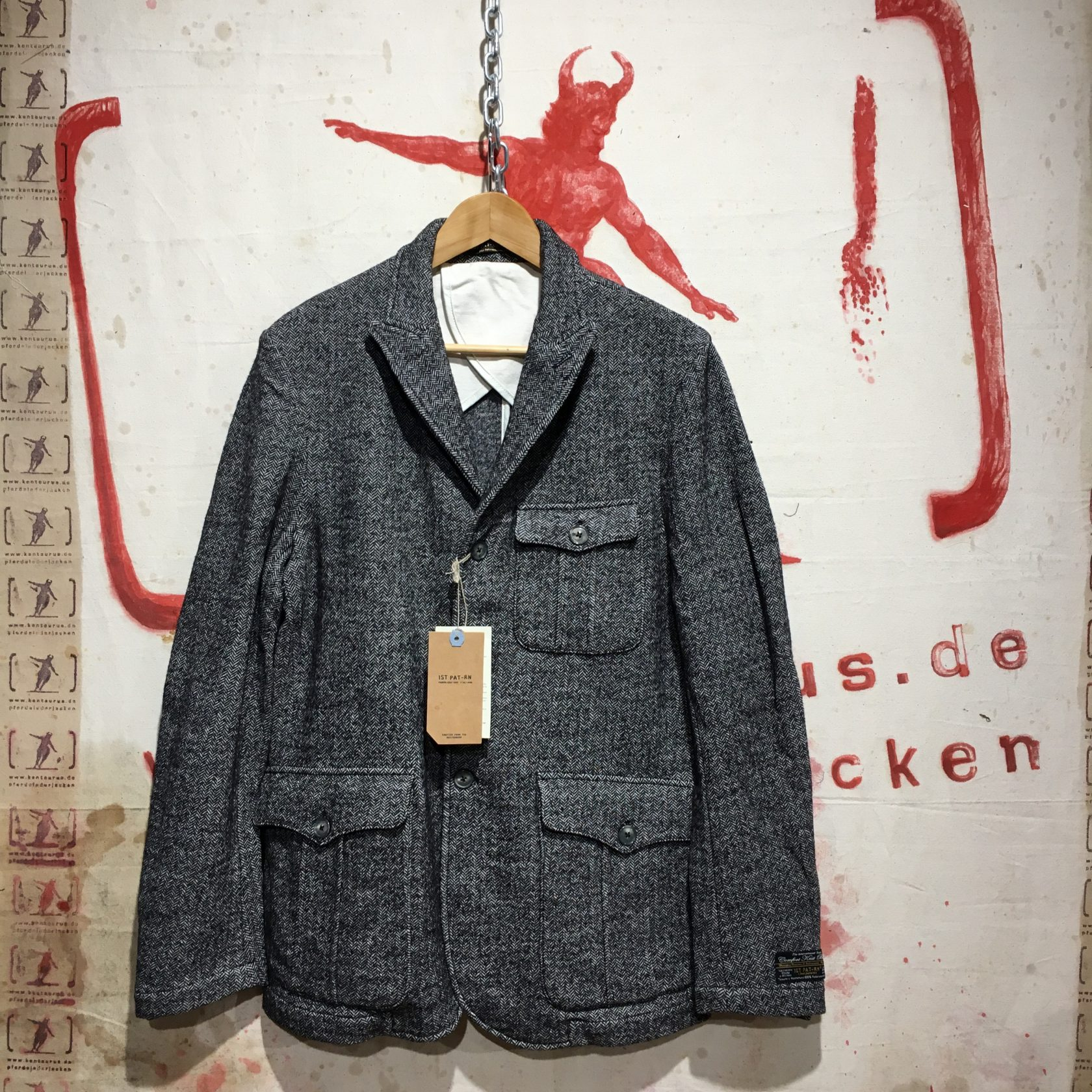 1st-Pat-rn: Cansiglio Jacket grey AW16