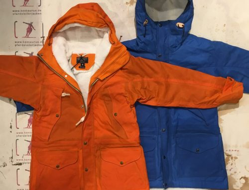 Ceccarelli AW16 Mountain Jacket orange und hellblau