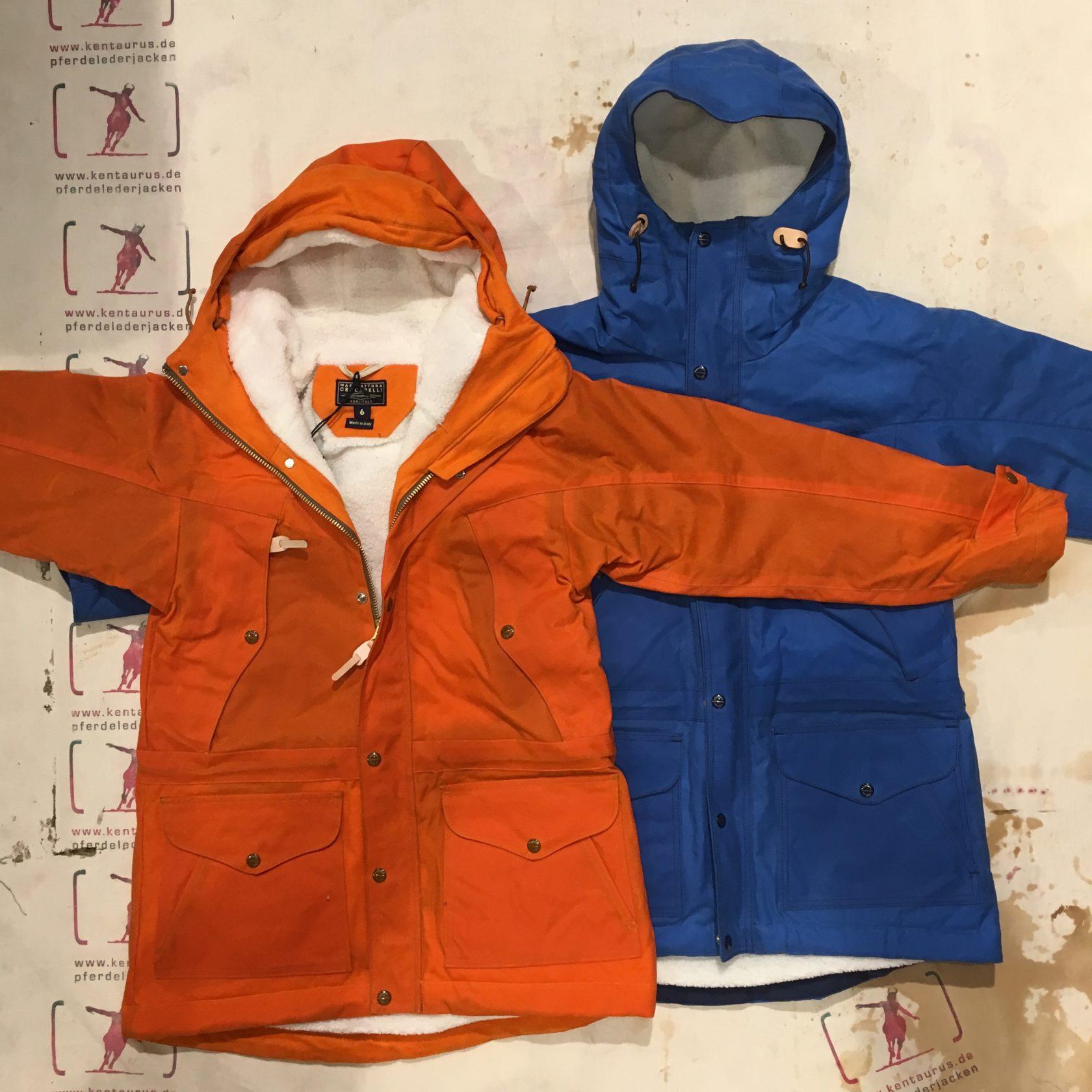 Ceccarelli AW16 Mountain Jacket orange und hellblau