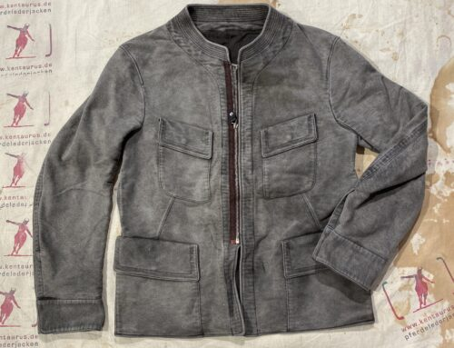 MotivMfg tunic moleskin jacket grey