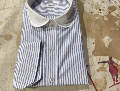 Salvatore Piccolo  striped cotton shirt round collar