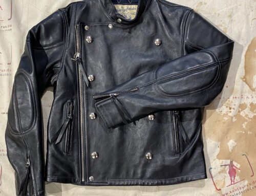 Les Motocyclettistes horsehide jacket type Record