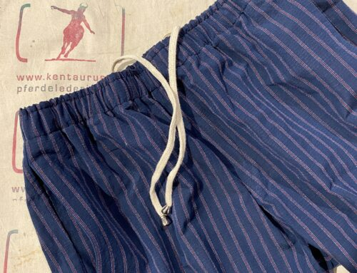 Salvatore Piccolo cotton/linen pant blue striped