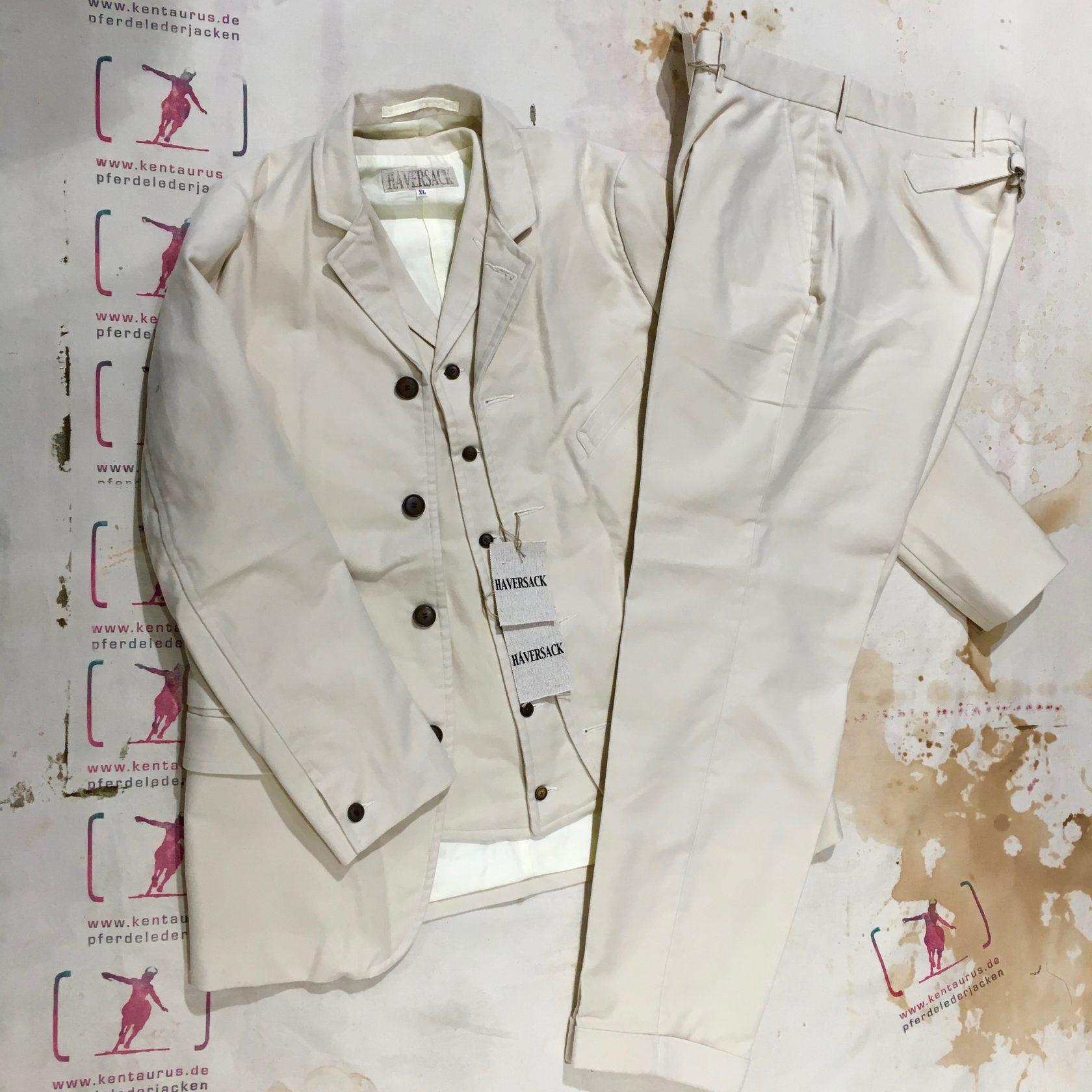 Haversack white moleskin 3 piece suit