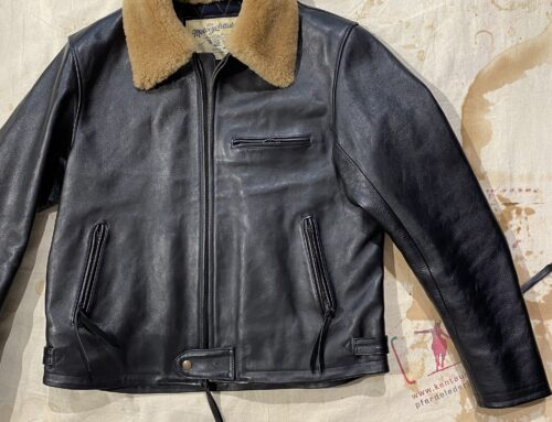 Les Motocyclettistes horsehide jacket  type Rapide fur collar