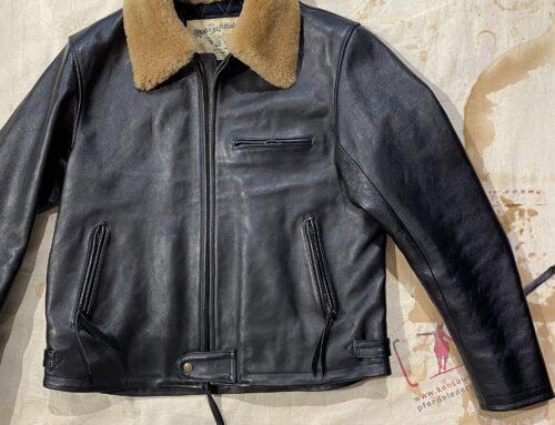 Les Motocyclettistes horsehide jacket  type Rapide fur collar