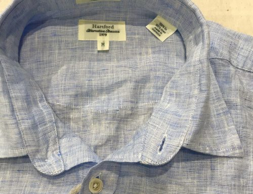 Hartford linen kent collar shirt