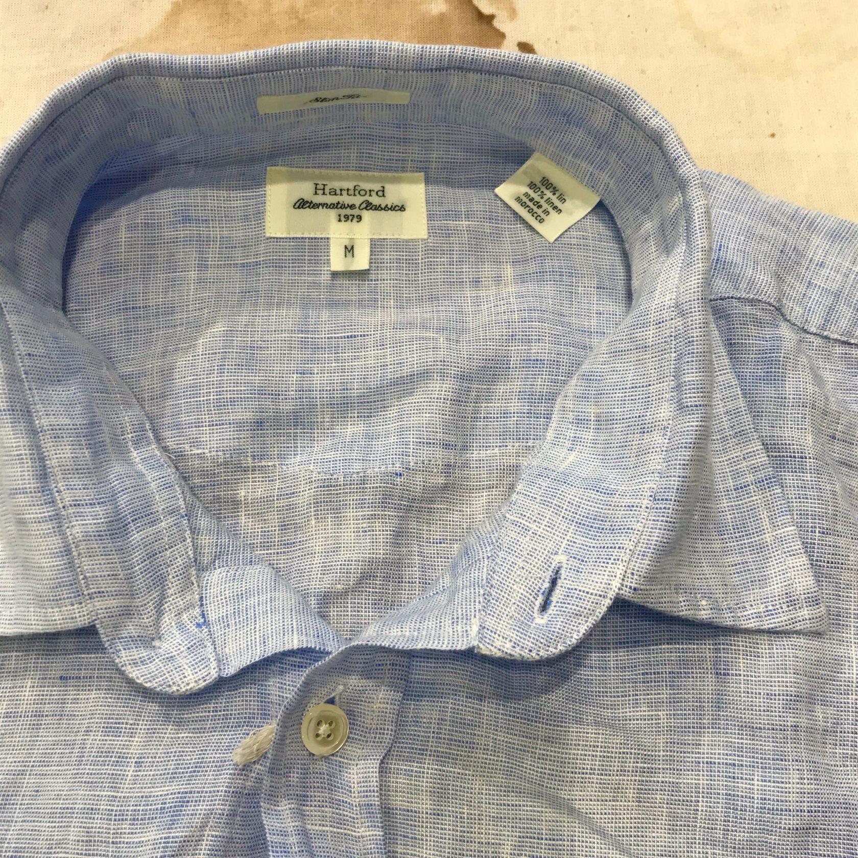 Hartford linen kent collar shirt