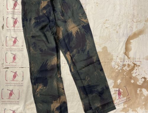 Delikatessen linen pant ckeckered olive