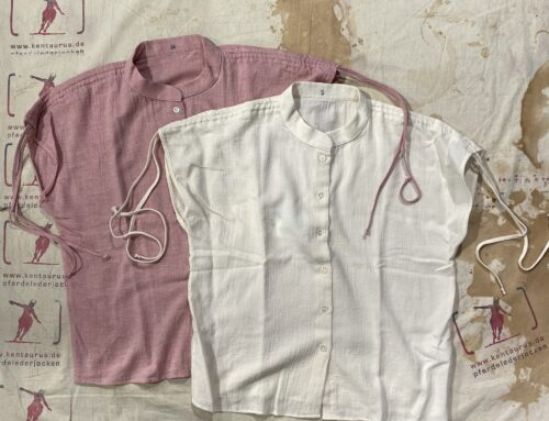 Delikatessen organic japanese cotton shirt pink and natural white