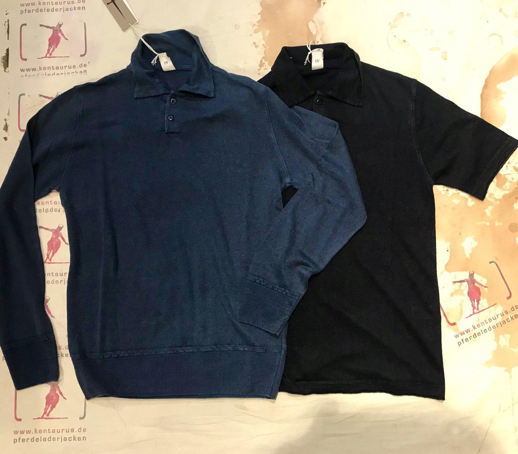 G.R.P. polo linen shirts blue and dark blue