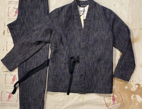 Hansen  2 piece suit heavy yarn dyed cotton hemp