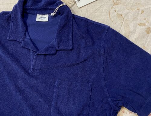 Hartford polo marine boucle frottee