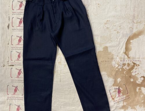 First Pat-rn georg pant wool/hemp blue
