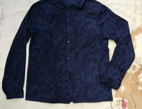 A.B.C.L. Japan service jacket co/li blue print