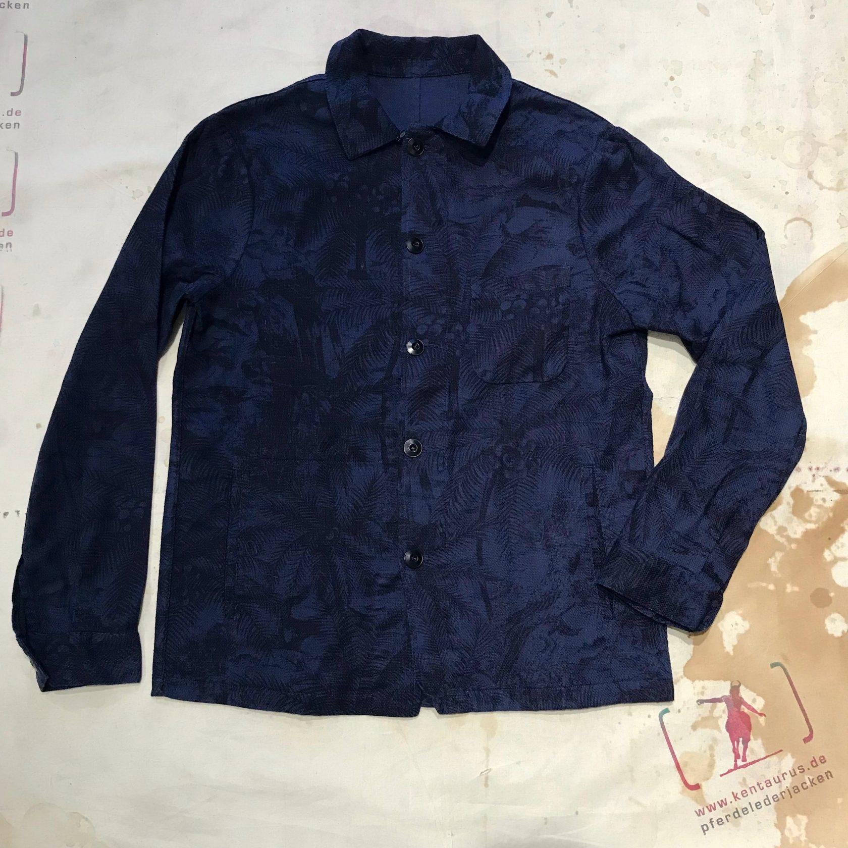 A.B.C.L. Japan service jacket co/li blue print