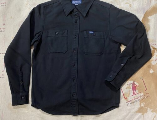 Iron Heart IHSH-279-black 7oz soft flannel work shirt black