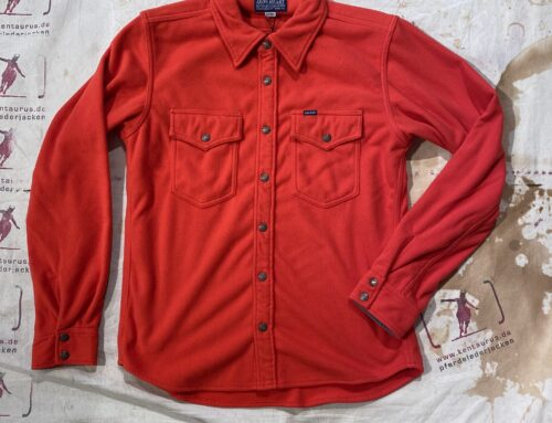Iron Heart IHSH -287-red micro fleece C.P.O. shirt