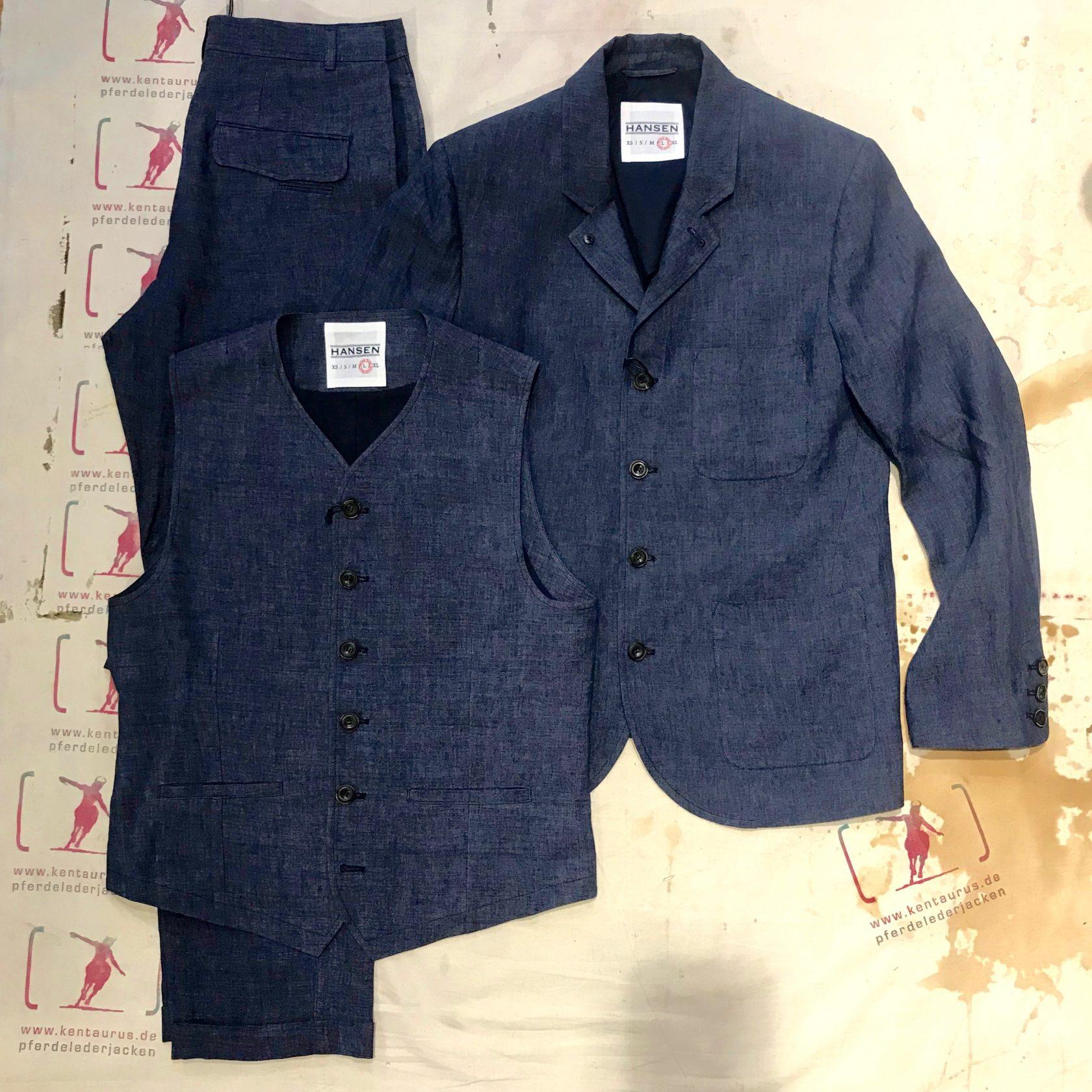 Hansen 3 piece suit blue delave