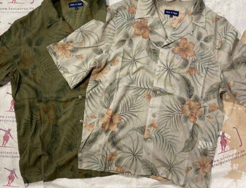 """Fleurs de Bagne La Chemise """"Hawaienne Vintage Flowers"""" Shirts Khaki & Beige"""