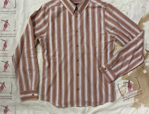 """Fleurs de Bagne La Chemise """"Cuba Classic"""" Shirt Red Stripes"""