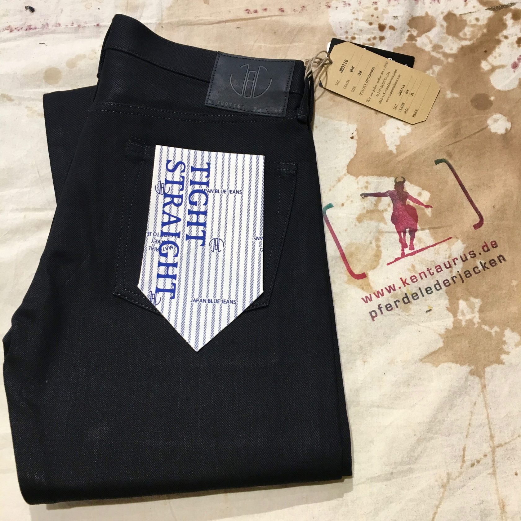 Momotaro black selvedge jeans