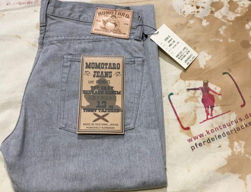 Momotaro grey selvedge jeans