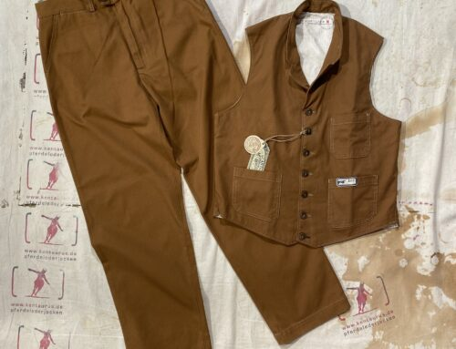 Scartilab 130SM 981 und 408SM981 cotton pant and vest  duck tan