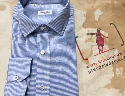 S.Piccolo blue stripe shirt R-BR/GI