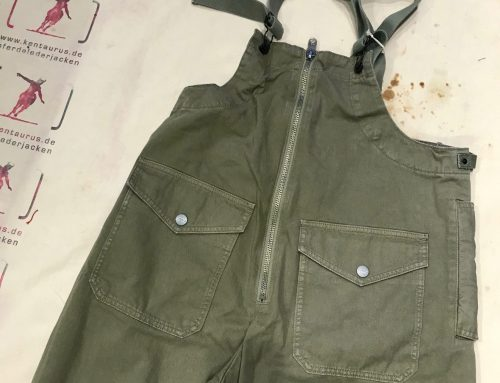 Nigel Cabourn deck waders khaki washed